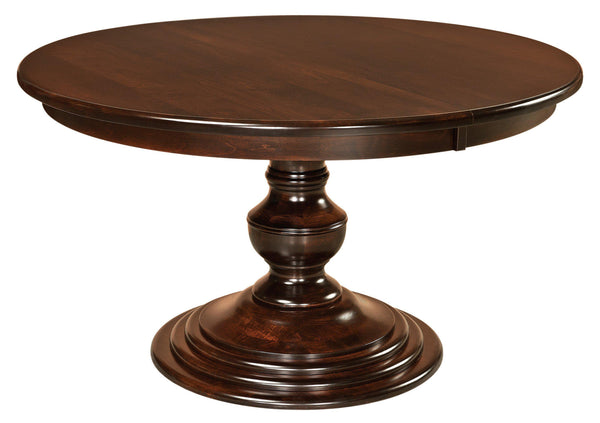 Kingsley Single Pedestal Table-The Amish House