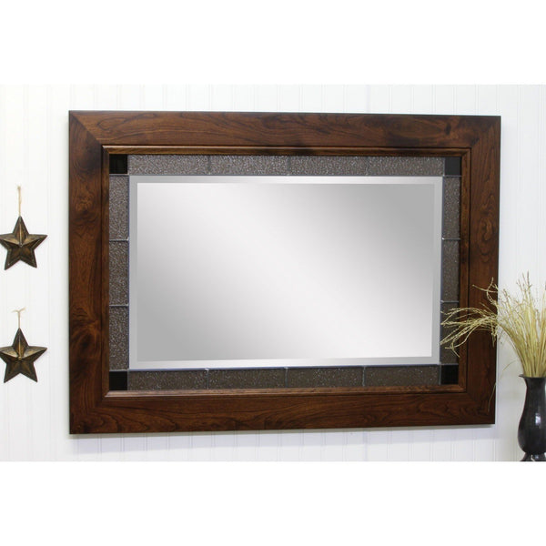 Brooklyn Shaker Granite Leaded Glass Wall Mirror