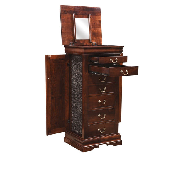 Louis Phillipe Jewelry Armoire-Bedroom-The Amish House
