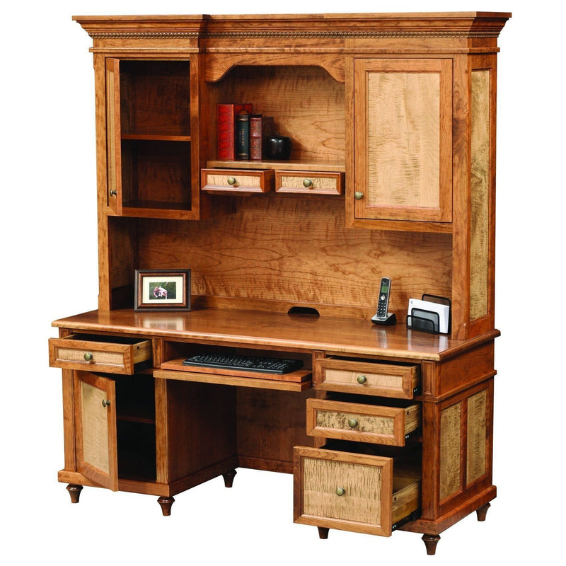 Bridgeport Credenza & Hutch-Office-The Amish House