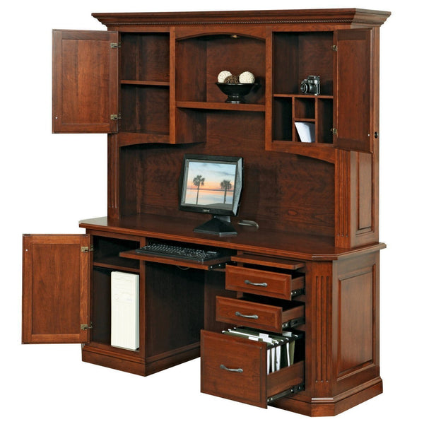 Buckingham Credenza & Hutch-Office-The Amish House