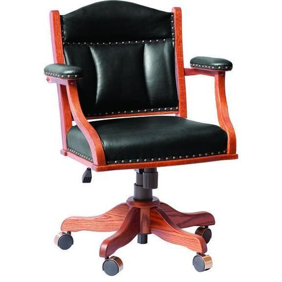 Low Back Arm Desk Chair (with gas lift)