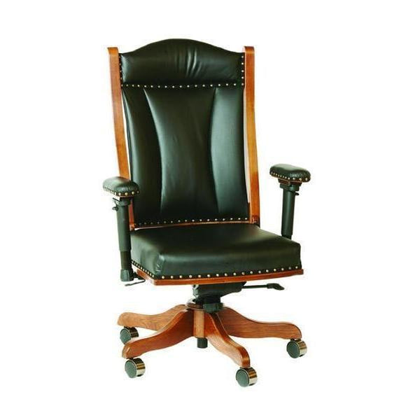 Desk Chair (w/adjustable arms), gas lift