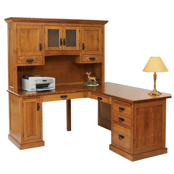 Homestead Corner Desk & Hutch