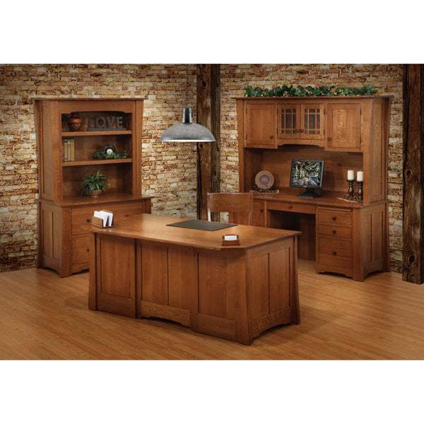 Jamestown Credenza & Hutch-Office-The Amish House