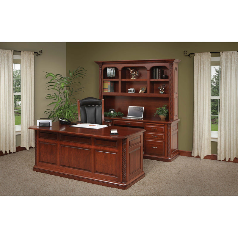 Lexington Credenza & Hutch-Office-The Amish House