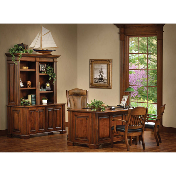 Lincoln Double Door Credenza Bookcase-Office-The Amish House