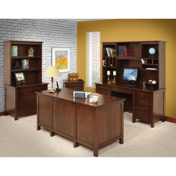 Manhattan Credenza & Hutch-Office-The Amish House