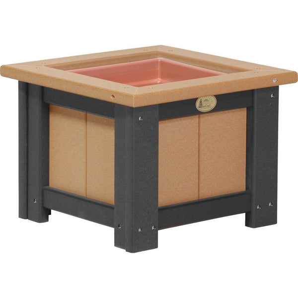 "Outdoor 15"" Planter Cedar & Black"