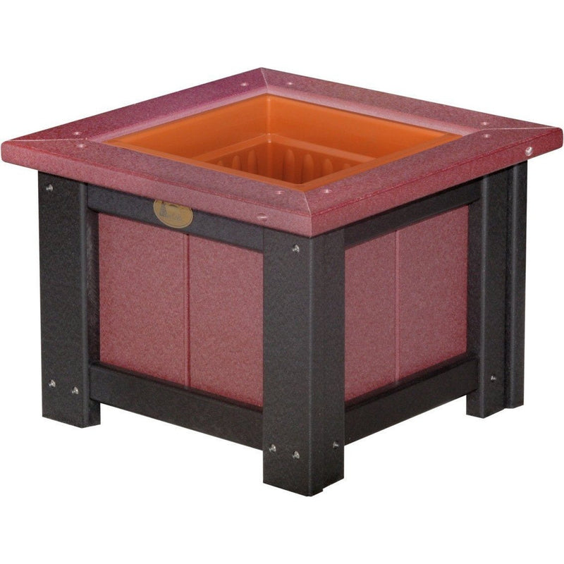"Outdoor 15"" Planter Cherrywood & Black"