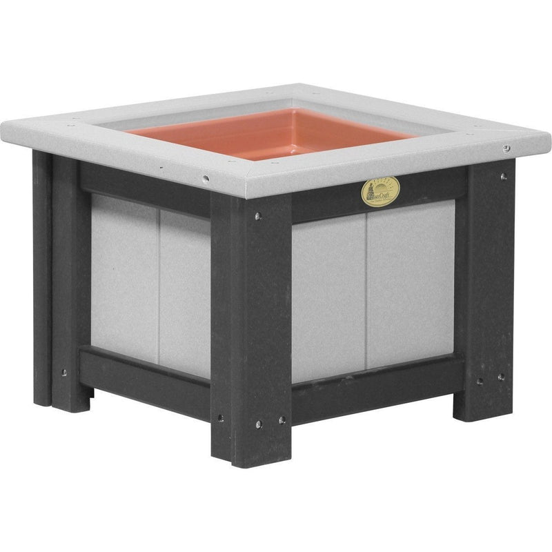 "Outdoor 15"" Planter Dove Grey & Black"