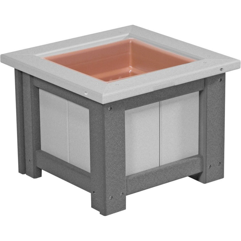 "Outdoor 15"" Planter Dove Grey & Slate"