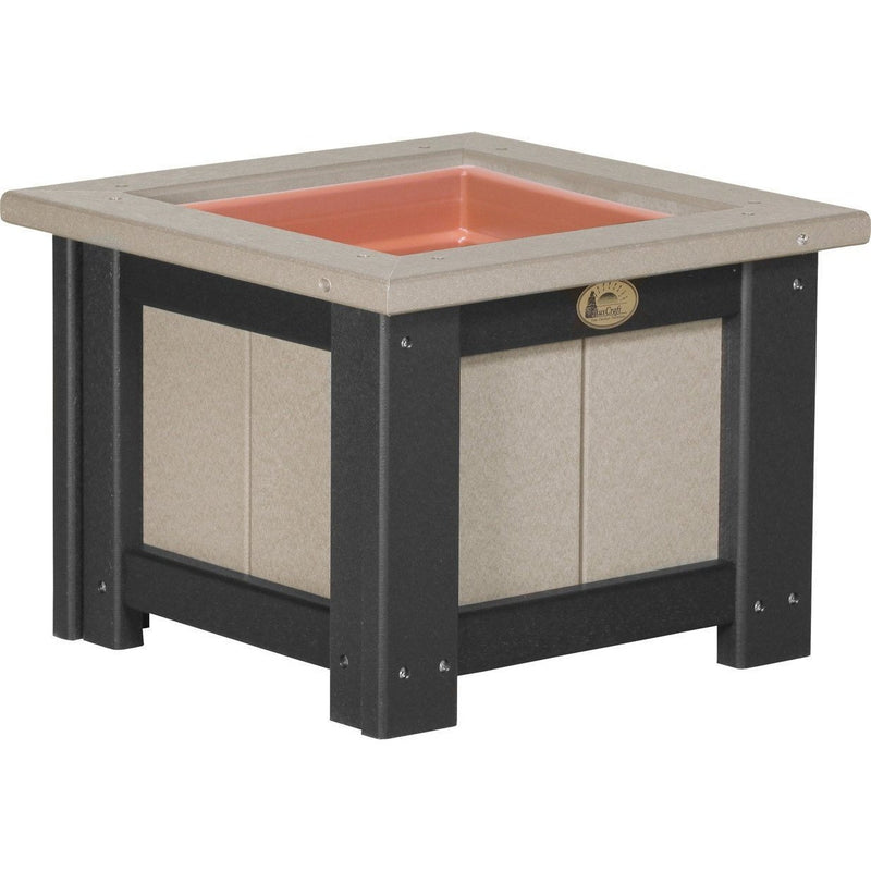 "Outdoor 15"" Planter Weatherwood & Black"