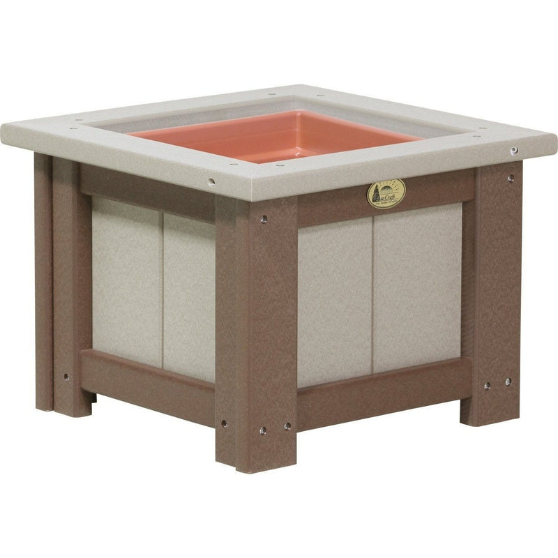 "Outdoor 15"" Planter Weatherwood & Chestnut Brown"