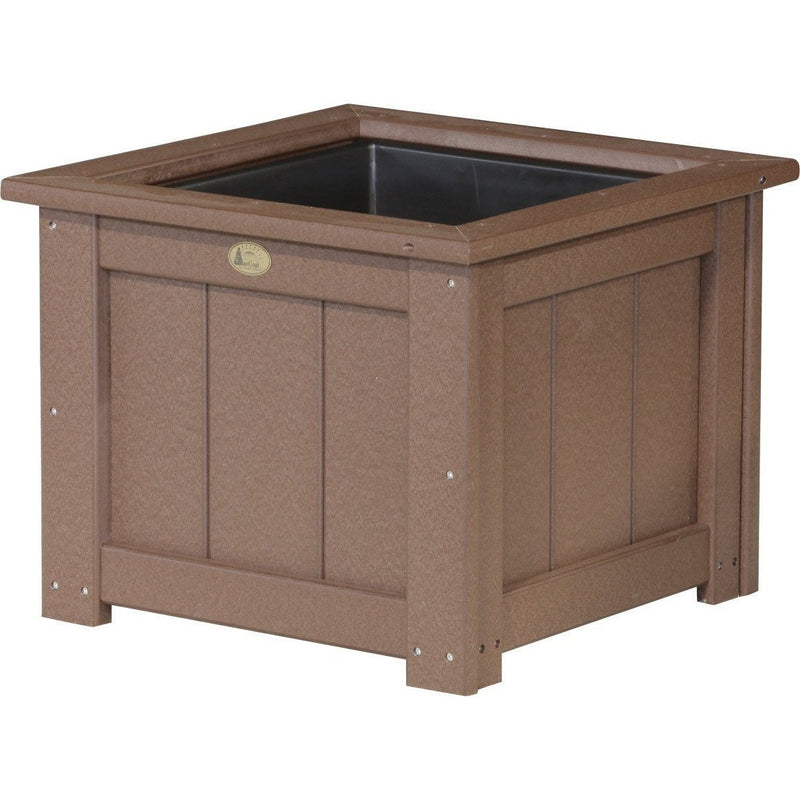 "Outdoor 24"" Planter Chestnut Brown"