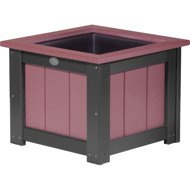 "Outdoor 24"" Planter Cherrywood & Black"