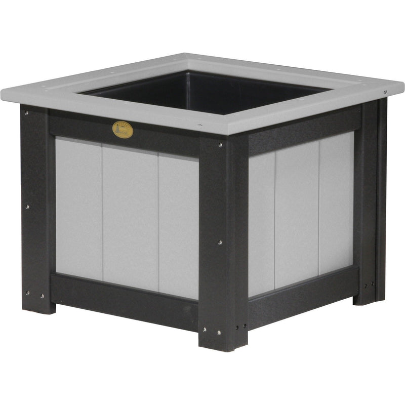 "Outdoor 24"" Planter Dove Grey & Black"