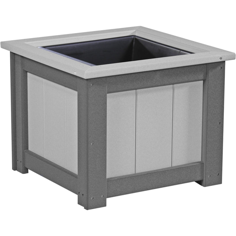 "Outdoor 24"" Planter Dove Grey & Slate"