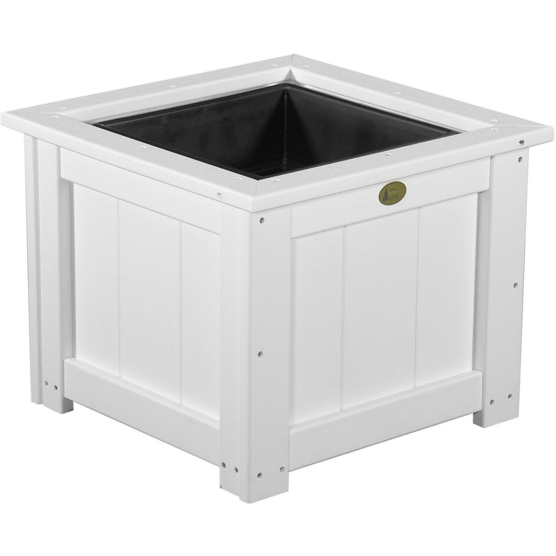 "Outdoor 24"" Planter White"