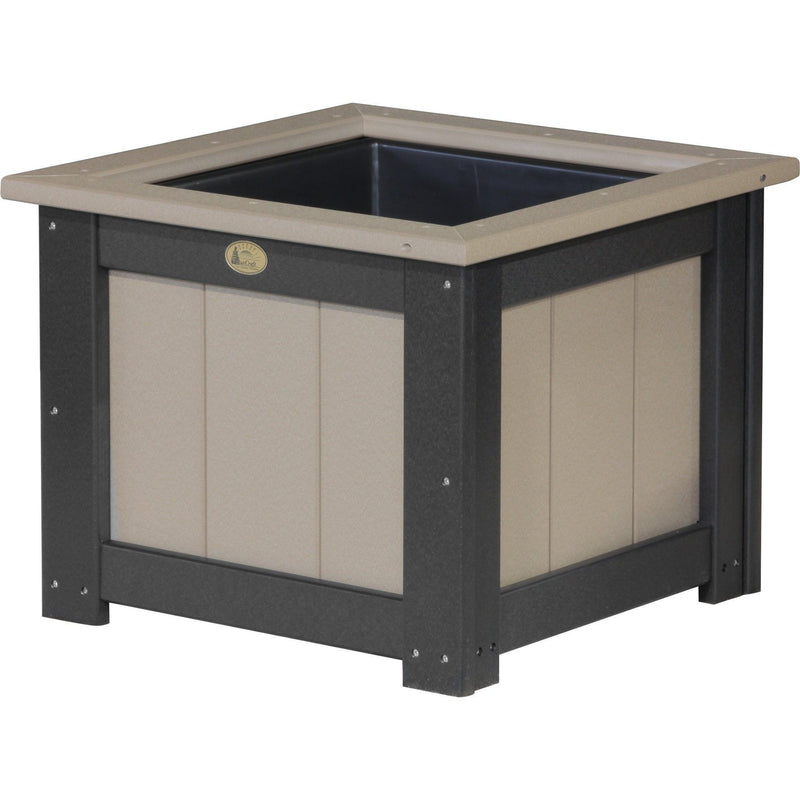 "Outdoor 24"" Planter Weatherwood & Black"
