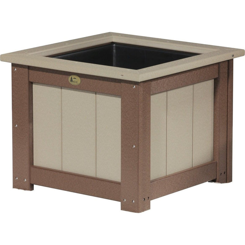 "Outdoor 24"" Planter Weatherwood & Chestnut Brown"