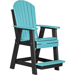 Adirondack Balcony Chair Aruba Blue & Black