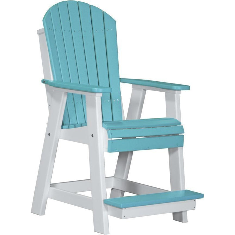 Adirondack Balcony Chair Aruba Blue & White