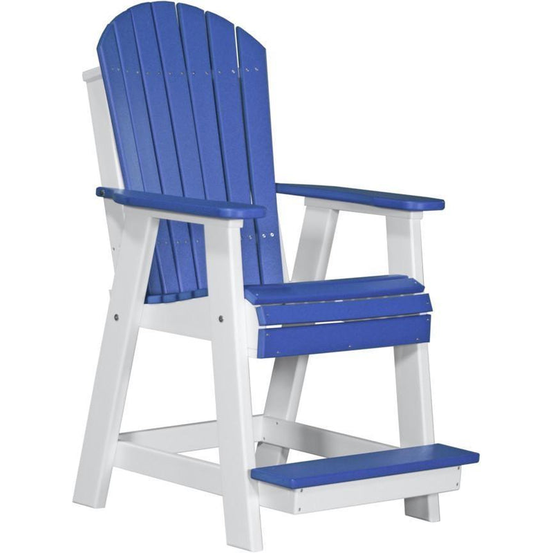 Adirondack Balcony Chair Blue & White