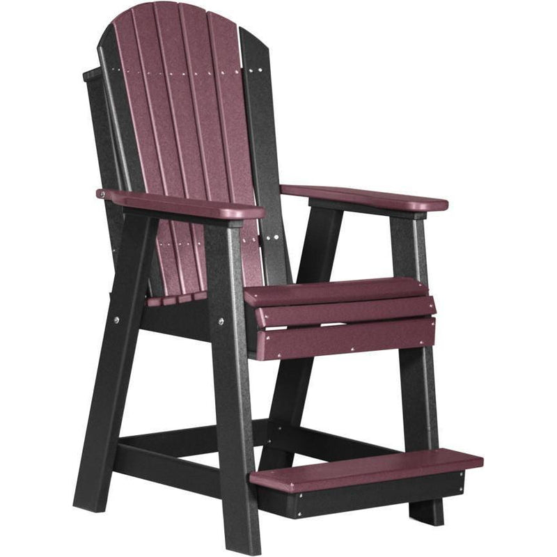 Adirondack Balcony Chair Cherrywood & Black