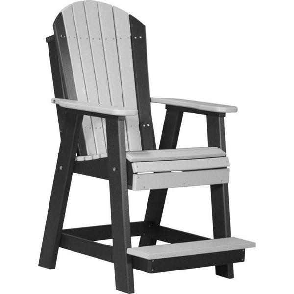 Adirondack Balcony Chair Dove Grey & Black