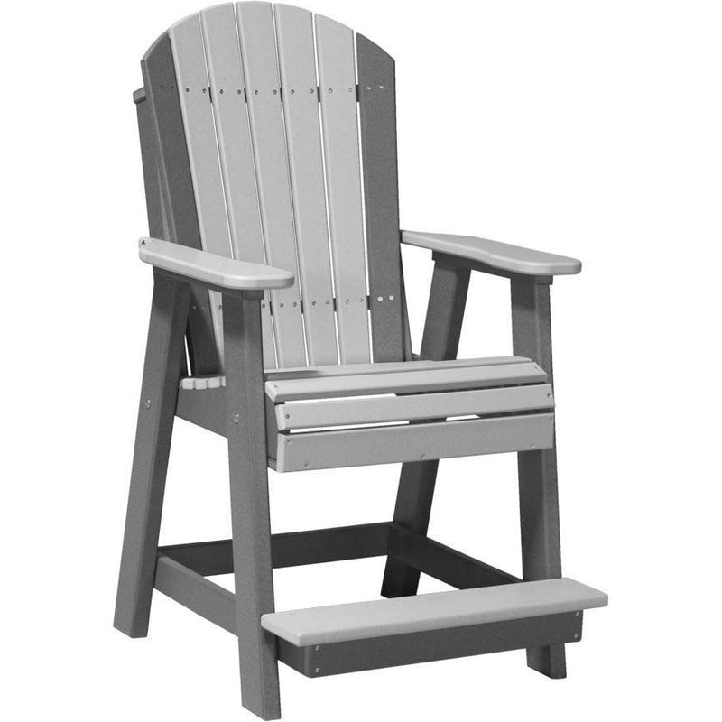 Adirondack Balcony Chair Dove Grey & Slate