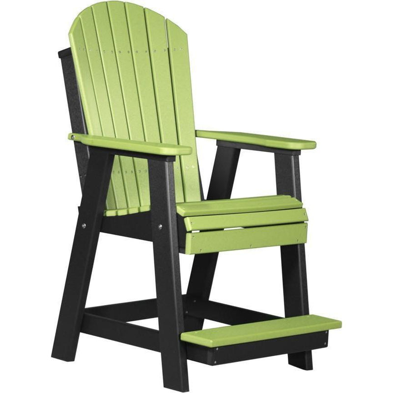 Adirondack Balcony Chair Lime Green & Black