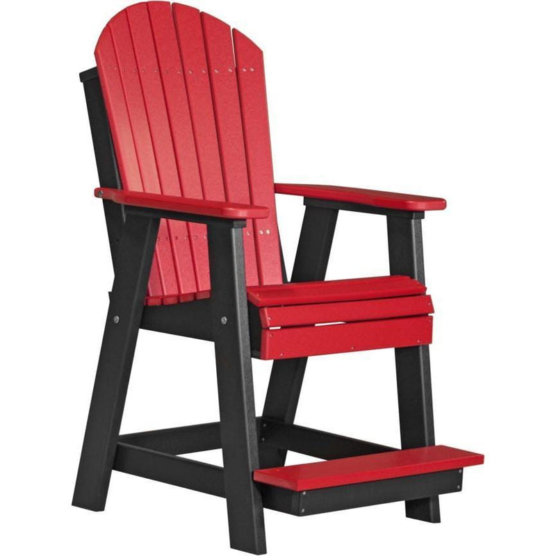 Adirondack Balcony Chair Red & Black