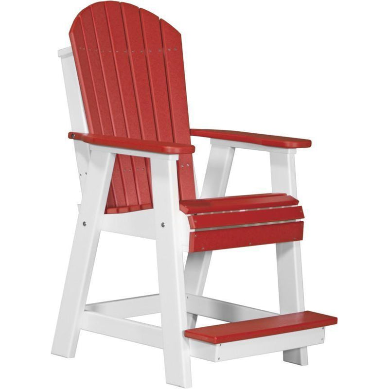 Adirondack Balcony Chair Red & White