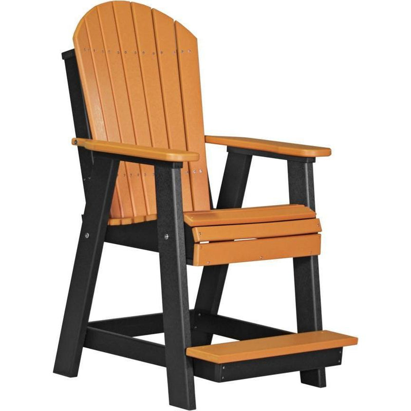 Adirondack Balcony Chair Tangerine & Black