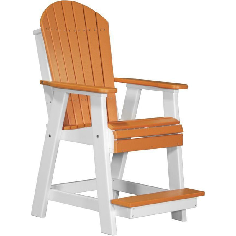 Adirondack Balcony Chair Tangerine & White