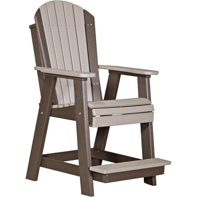 Adirondack Balcony Chair Weatherwood & Chestnut Brown