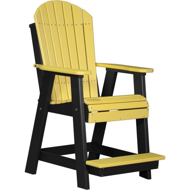 Adirondack Balcony Chair Yellow & Black