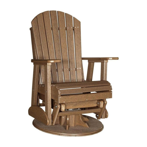 Adirondack Swivel Glider Antique Mahogany