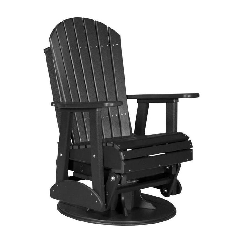 Adirondack Swivel Glider Black