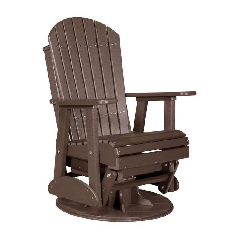 Adirondack Swivel Glider Chestnut Brown