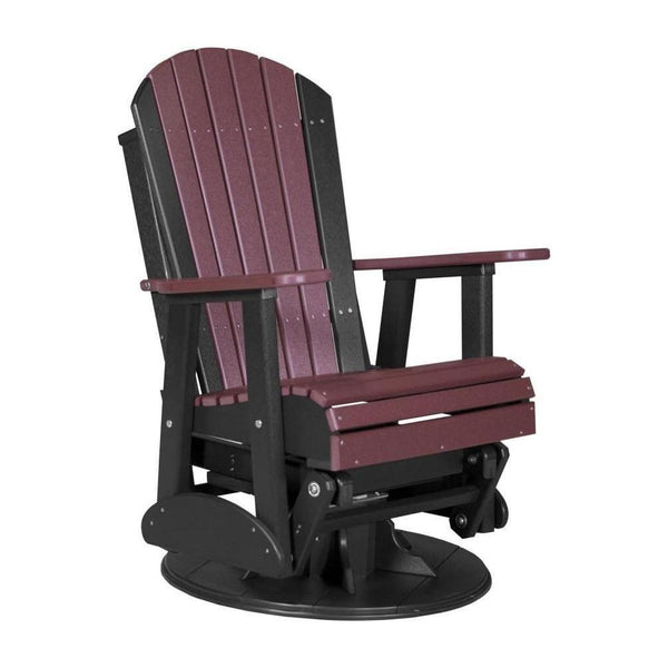 Adirondack Swivel Glider Cherrywood & Black