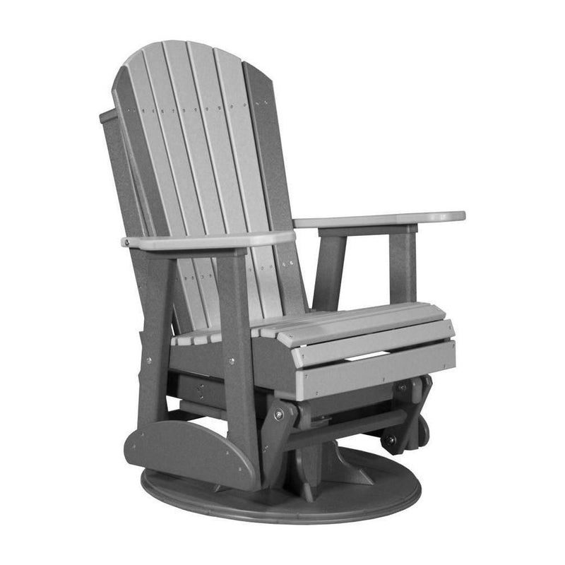 Adirondack Swivel Glider Dove Grey & Slate