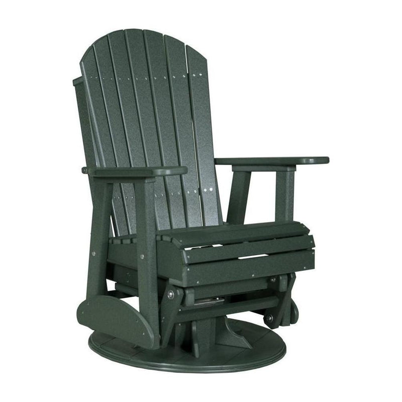 Adirondack Swivel Glider Green