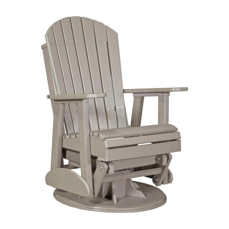 Adirondack Swivel Glider Weatherwood