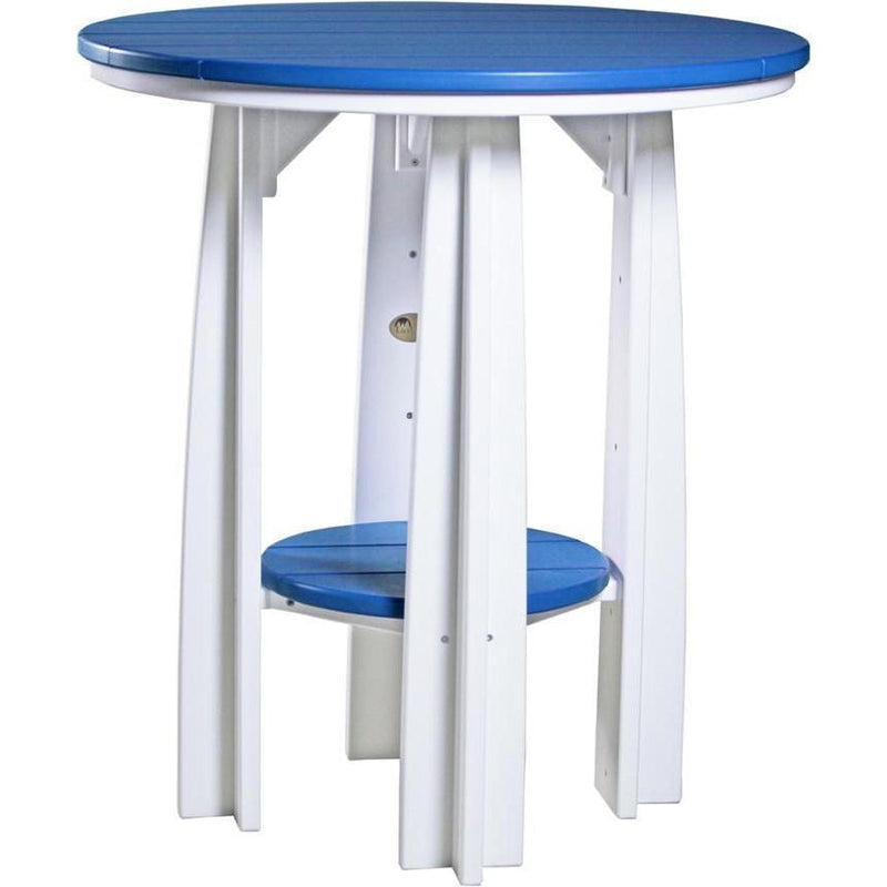 "Outdoor 36"" Balcony Table Blue & White"