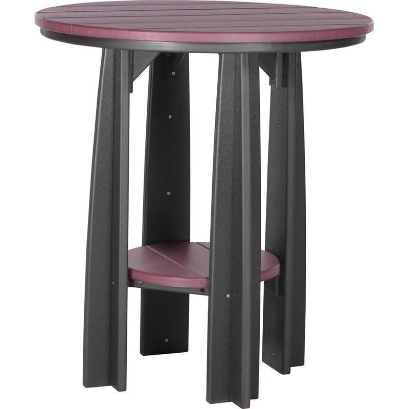 "Outdoor 36"" Balcony Table Cherrywood & Black"