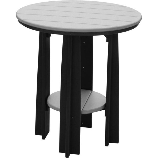 "Outdoor 36"" Balcony Table Dove Grey & Black"