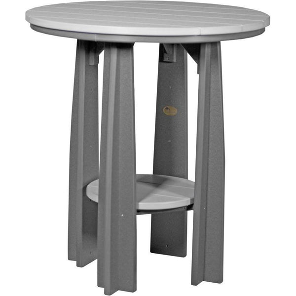 "Outdoor 36"" Balcony Table Dove Grey & Slate"