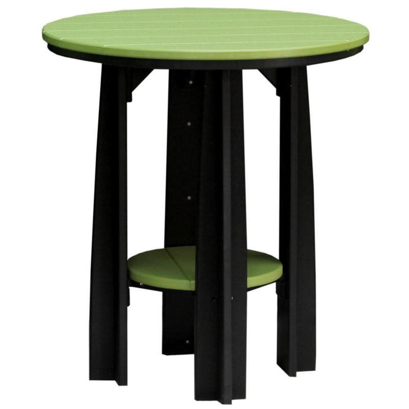 "Outdoor 36"" Balcony Table Lime Green & Black"